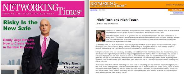 Evan Klassen and Randy Gage in Networking Times.jpg