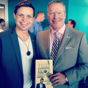 Evan Klassen meets Mayor Of City of Orlando Buddy Dyer signing his best selling book think and grow rich today Napoleon Hill