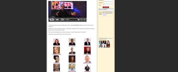"""Evan Klassen with Celebrity Press Publishing got in the finals for """"Best Book Marketer of the Year"""""""