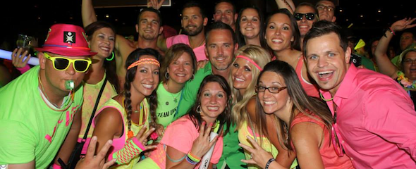 Vi Neon Party with over 10K Fun and Happy People in Orlando Florida 2013