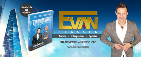 """Evan Klassen launches his 2nd book """"Transform"""" that he Co Authored with Brian Tracy and other Experts from around the World"""